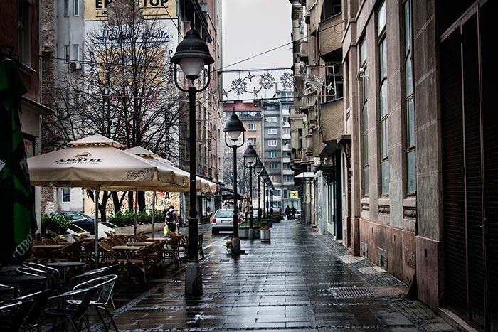 Дождливые улицы Белграда