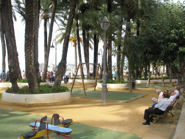 Один из парков на набережной