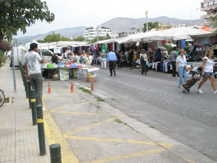 Рынок на окраине Афин