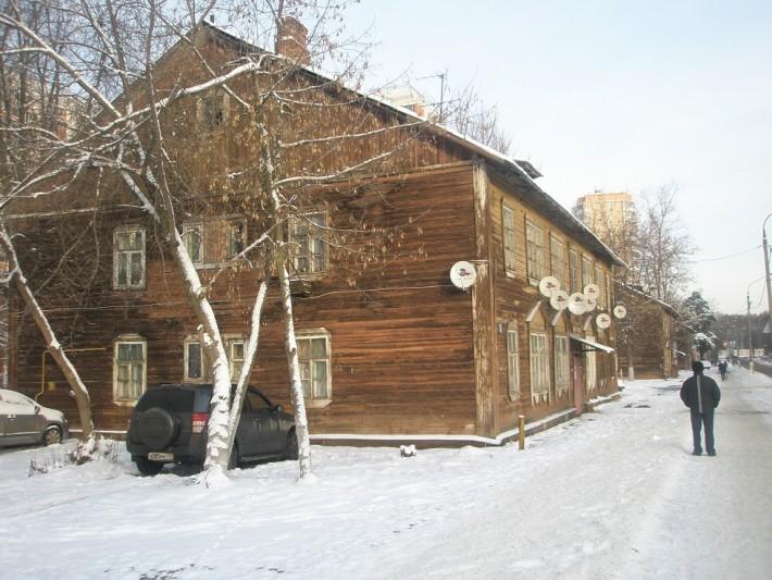 Один из старых микрорайонов Подольска
