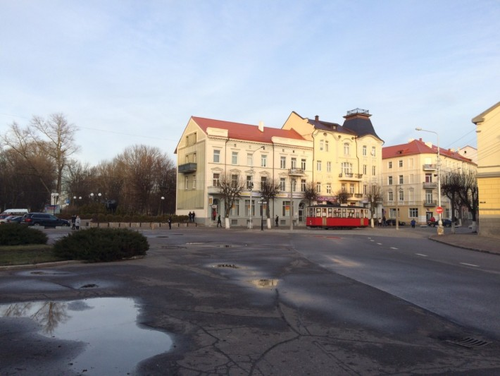 Советск: площадь Победы, вагон трамвая - мини-музей