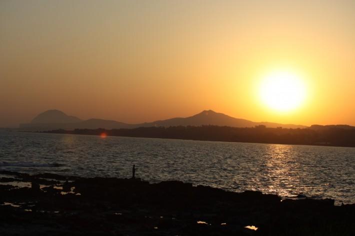 Закат на острове Чеджу