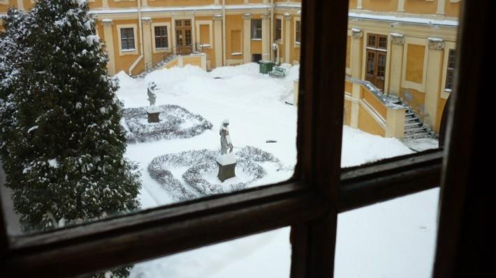 Вид из окна дворца Меньщикова