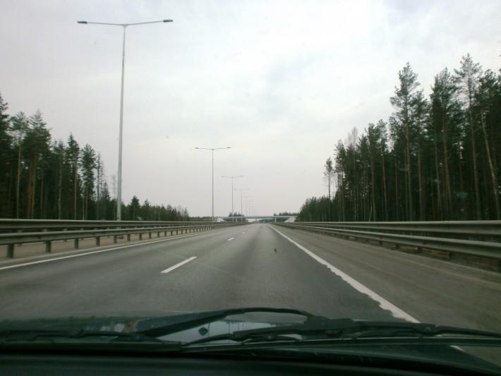 Участок скоростной М11. По пути из Валдая в Тверь.