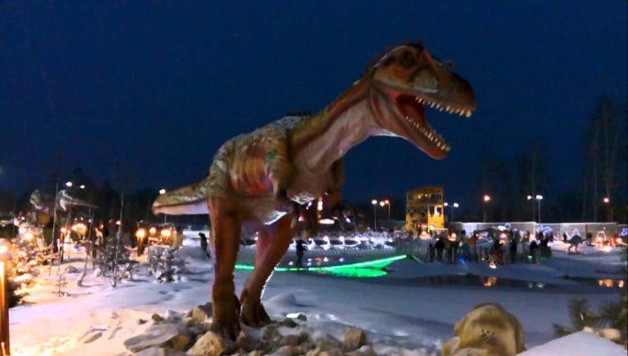 Юркин парк - крупнейший в России динопарк с динозаврами в натуральную величину