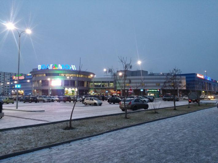 Зимняя пешая прогулка около ТРЦ Волгомол