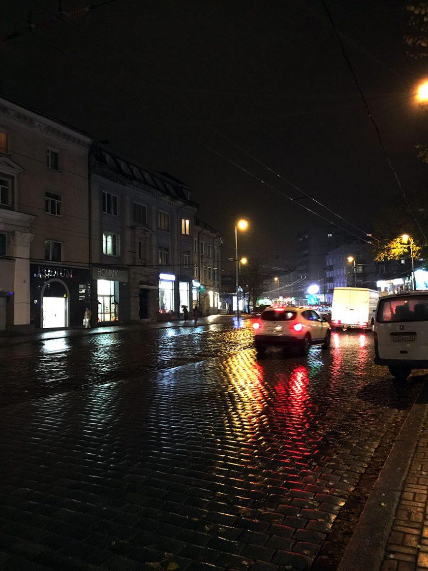 Ночной Калининград. Проспект Мира