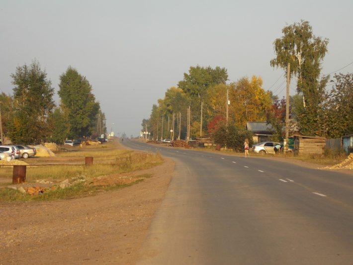 Поселок Сухой. Главная улица