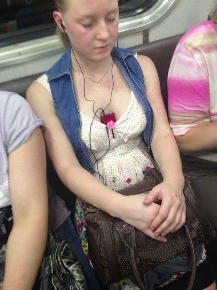 Прекрасные и находчивые пассажиры Санкт-Петербургского метро
