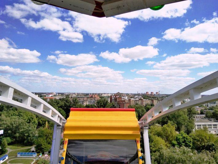 Вид Бреста с 40-метровой высоты