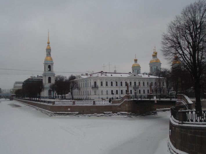 Январь в Санкт-Петербурге. Никольский собор