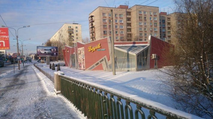 Заневский проспект. Весеннее солнышко. На улице минус