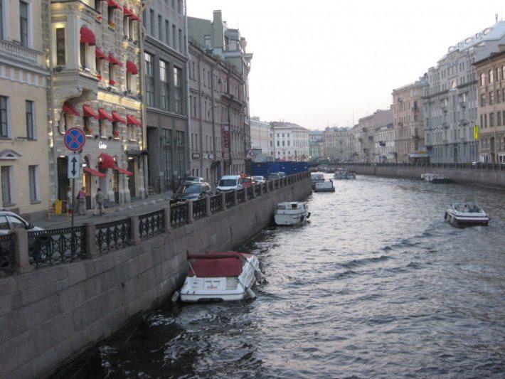 Река Мойка в центре Петербурга