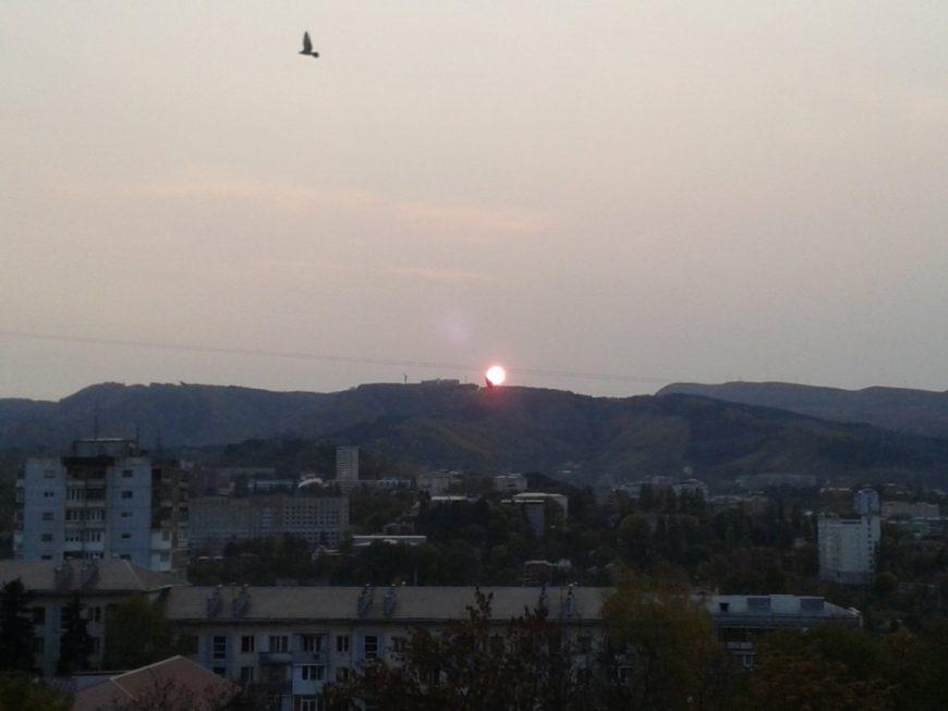 Вид на жилые кварталы Кисловодска