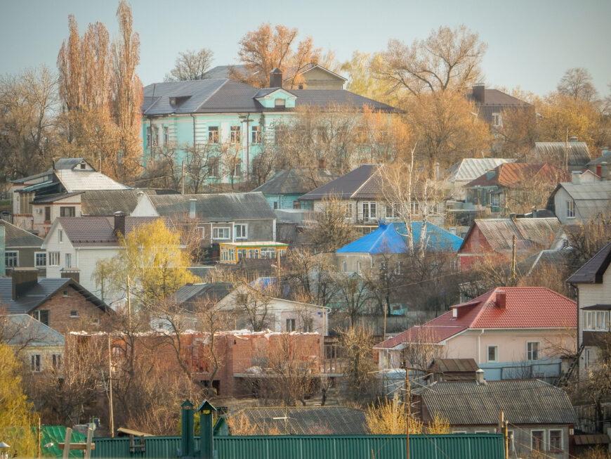 Частный сектор рядом с центром Воронежа. Бывшая слобода Чижовка. Апрель 2017