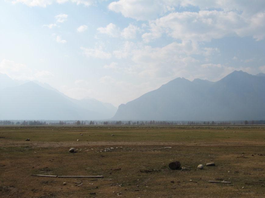 Баргузинский хребет. Пожары были в то лето, вся Восточная Сибирь была в дыму