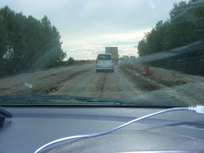 Кошмарный участок «дороги» Ишим-Бердюжье, 2012г.