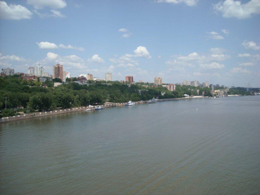 Река Дон (вид с Ворошиловского моста)