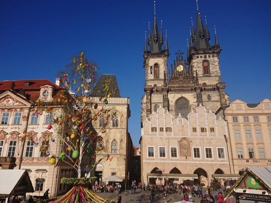 Пасха в Праге. Старомнестская площадь