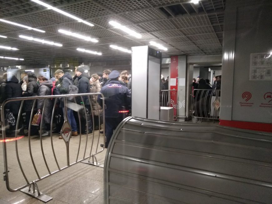 Станция метро Беговая. Обычный будний вечер