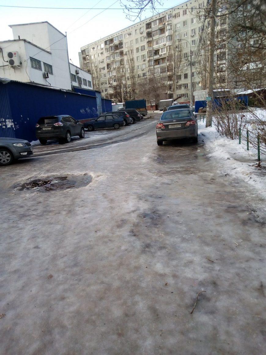 Ледяной плен в Краснооктябрьском районе