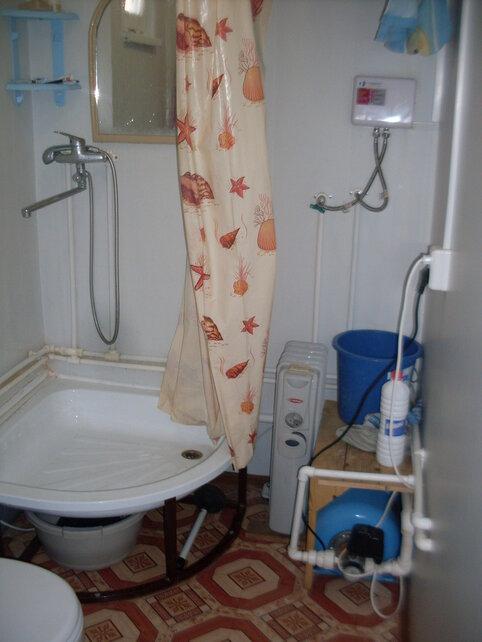 Санузел мобильного домика - полный фарш включая 6 КВт проточный обогреватель на несколько точек (на кухню также)