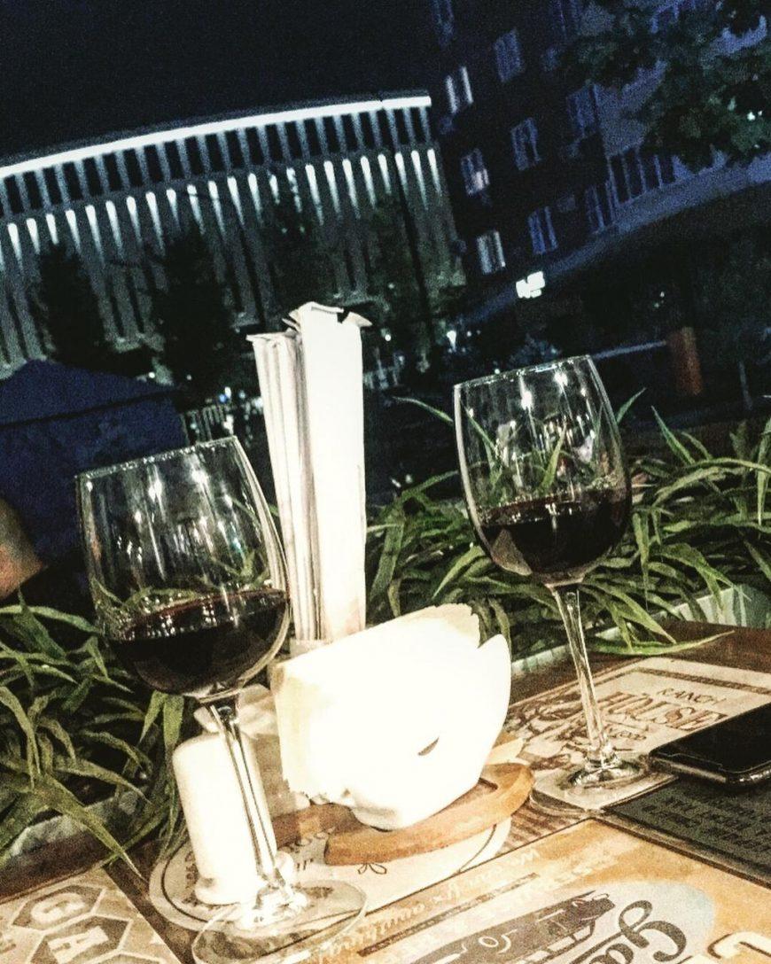 Ужин с видом на стадион Галицкого