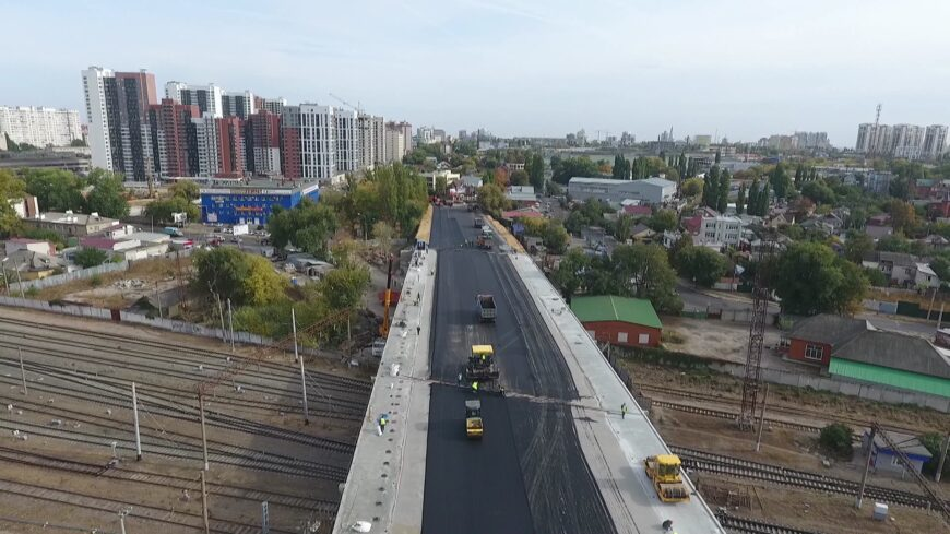 Реконструкция путепровода на улице 9-го января