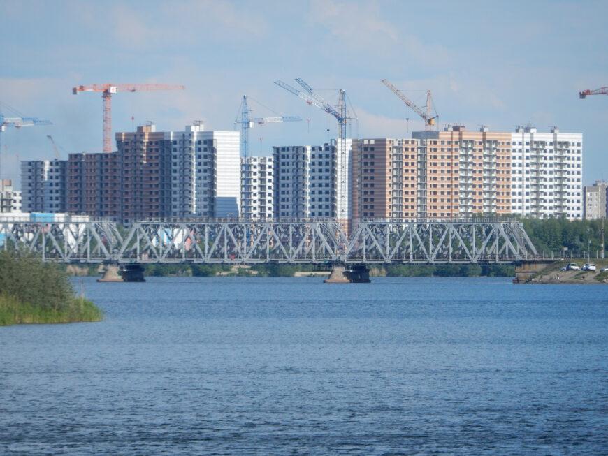 Новостройки в Железнодорожном районе Воронежа. Май 2020