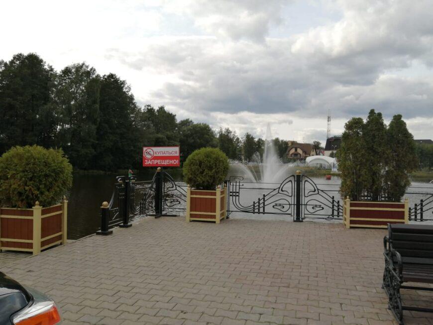 Рядом с рестораном на воде и прудом Черноголовка