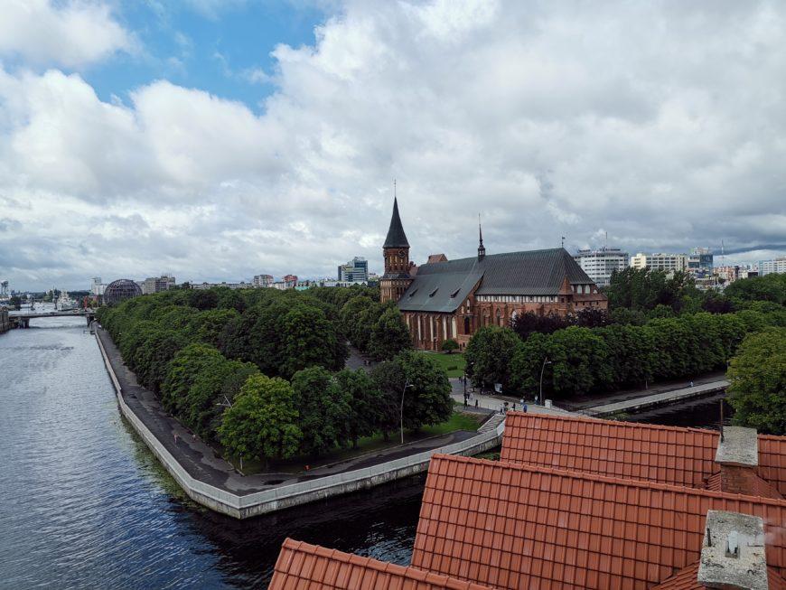 Калининград. Вид на остров Канта с маяка