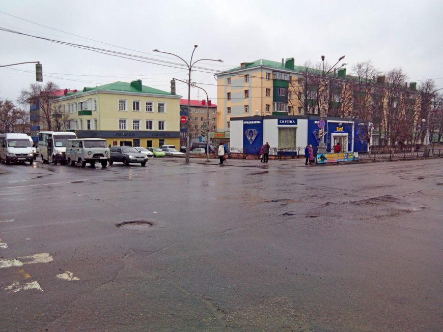 Центр города - перекресток на Ленина