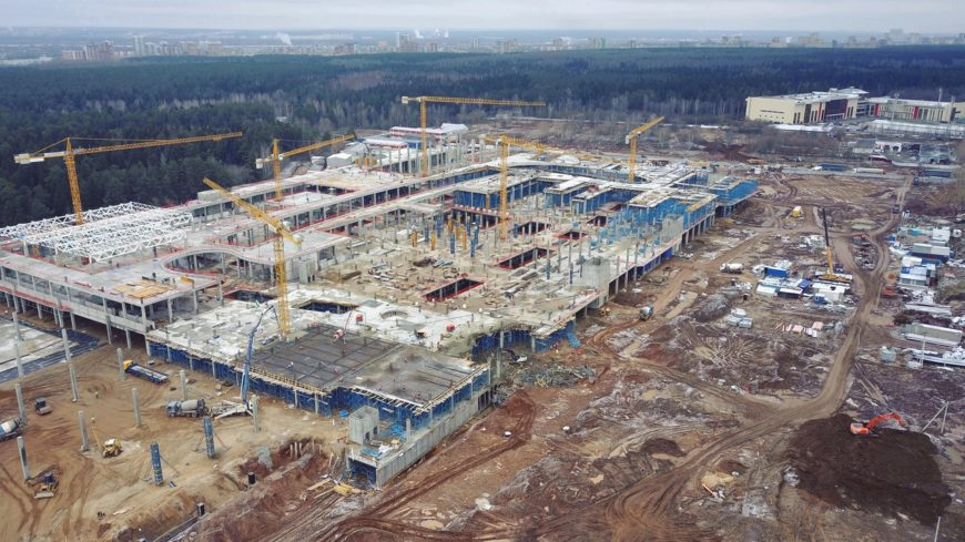 Строительство ТРК Планета в Перми