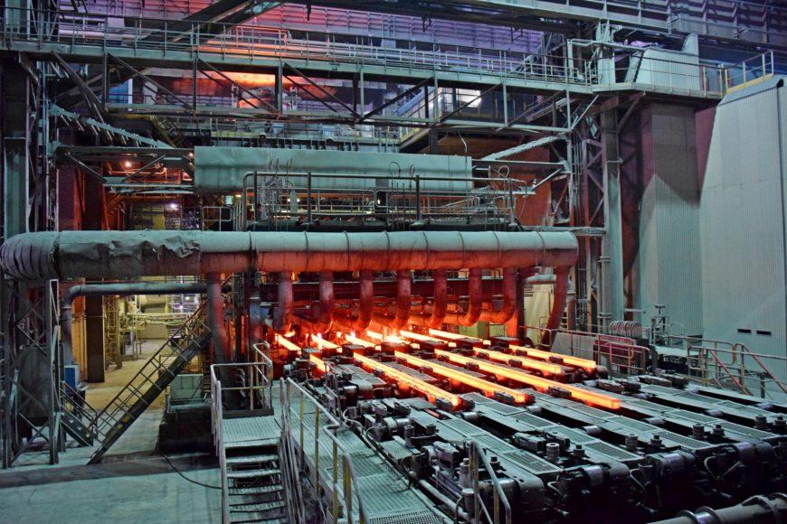 В одном из цехов металлургического комбината