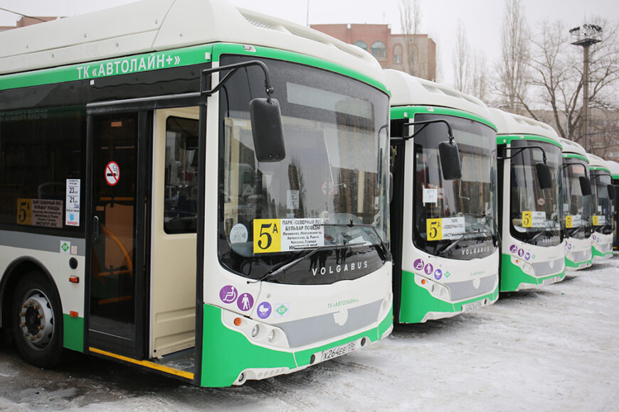 Новые низкопольные автобусы Volgabus частного перевозчика
