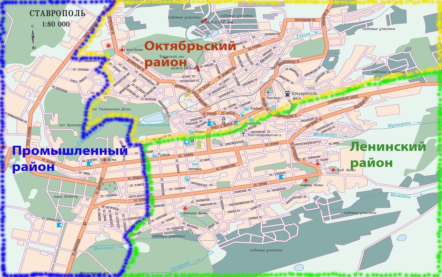 схема и номера маршрутов с г. михайловска до ставрополя