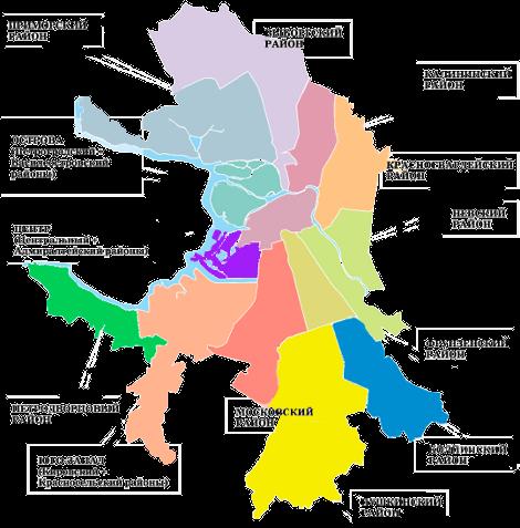 Карта районов Санкт-Петербурга