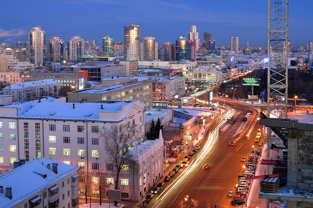 Карта города Екатеринбурга, округа, районы, улицы