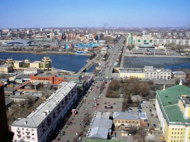 Вид Челябинска сверху