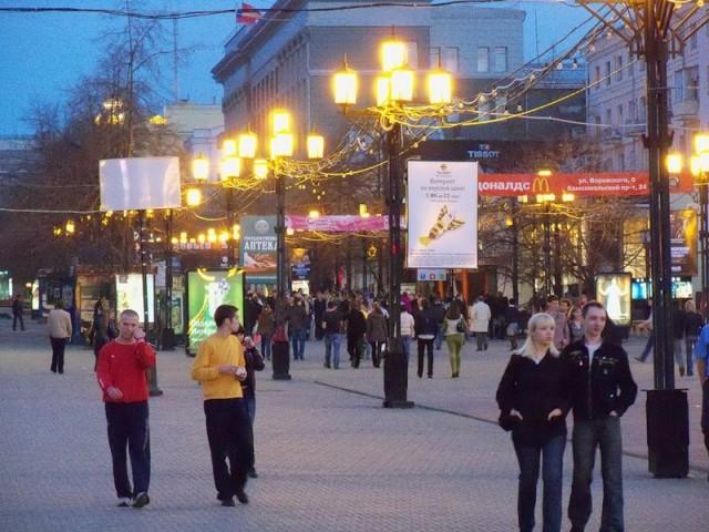 Пешеходная улица Кировка в Челябинске