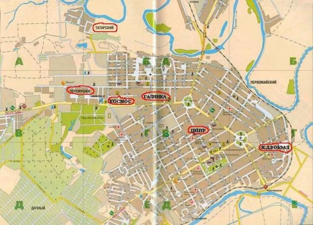 Карта Новочеркасска