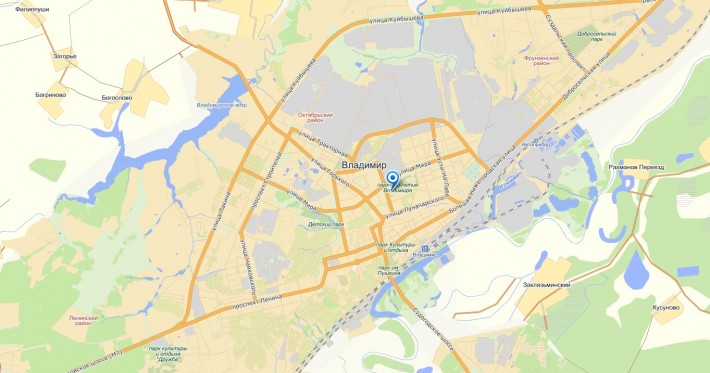 Карта Владимира