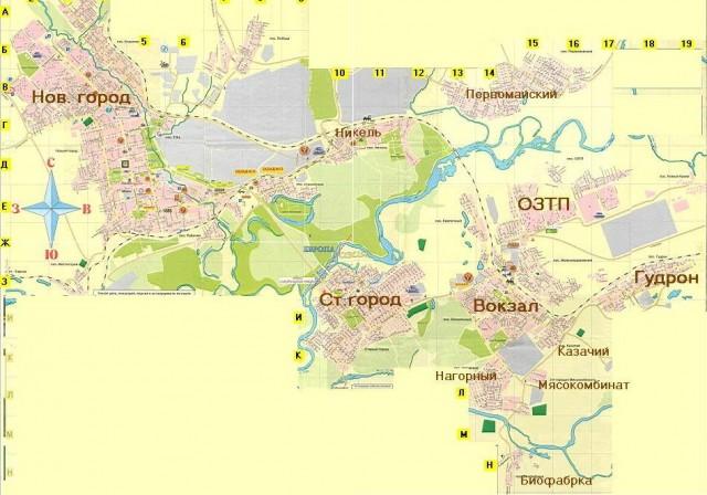 Карта Орска