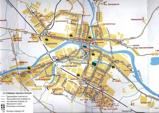 Карта Твери