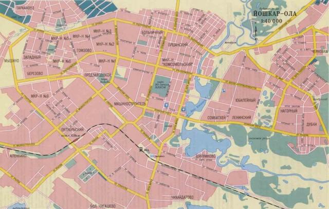 Карта Йошкар-Олы