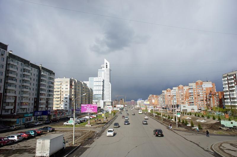 Красноярск. Взлетка
