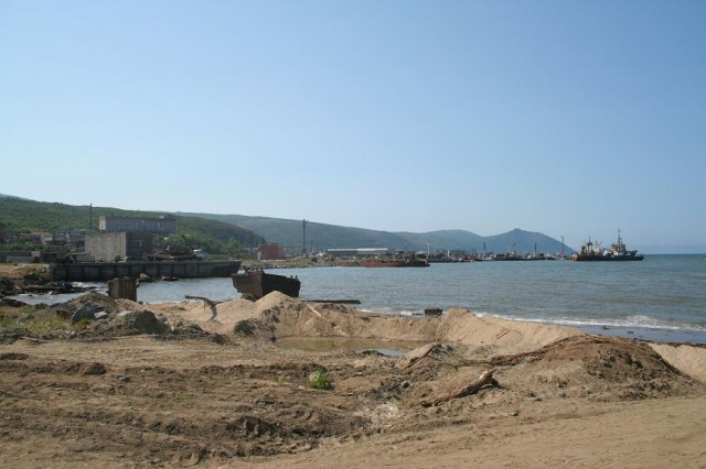 Магадан. Рыбный порт