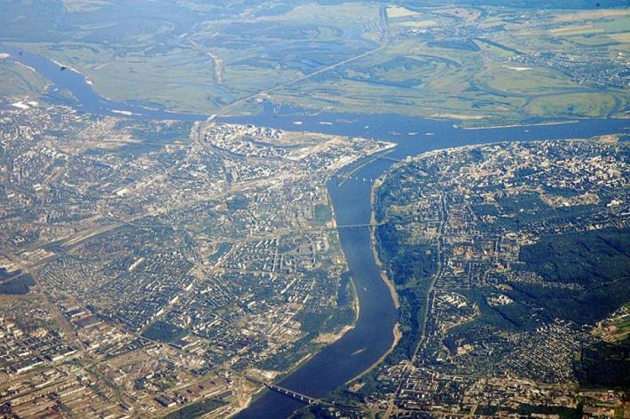 Нижний Новгород. Вид сверху