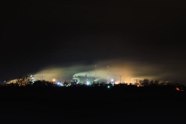 Новомосковский Азот ночью