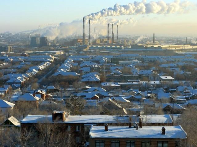 Орск. Дым над городом